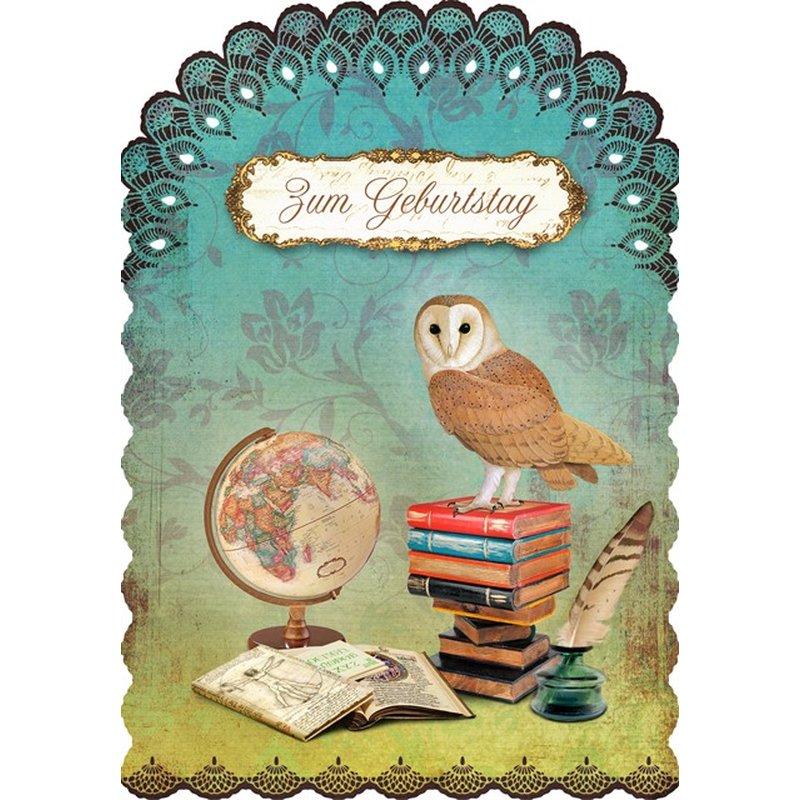 Gespaensterwald Geburtstagskarte Zum Geburtstag - Eule