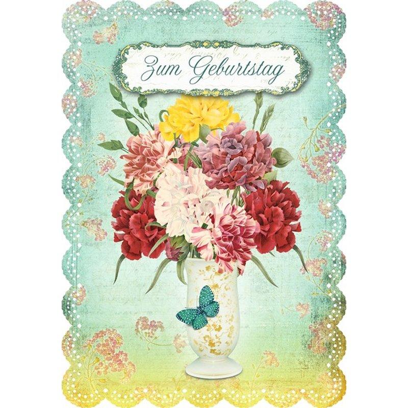 Gespaensterwald Geburtstagskarte Zum Geburtstag - Blumenstrauß