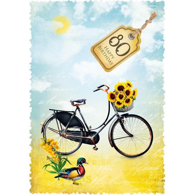 Gespaensterwald Grußkarte Romantique Fahrrad 80
