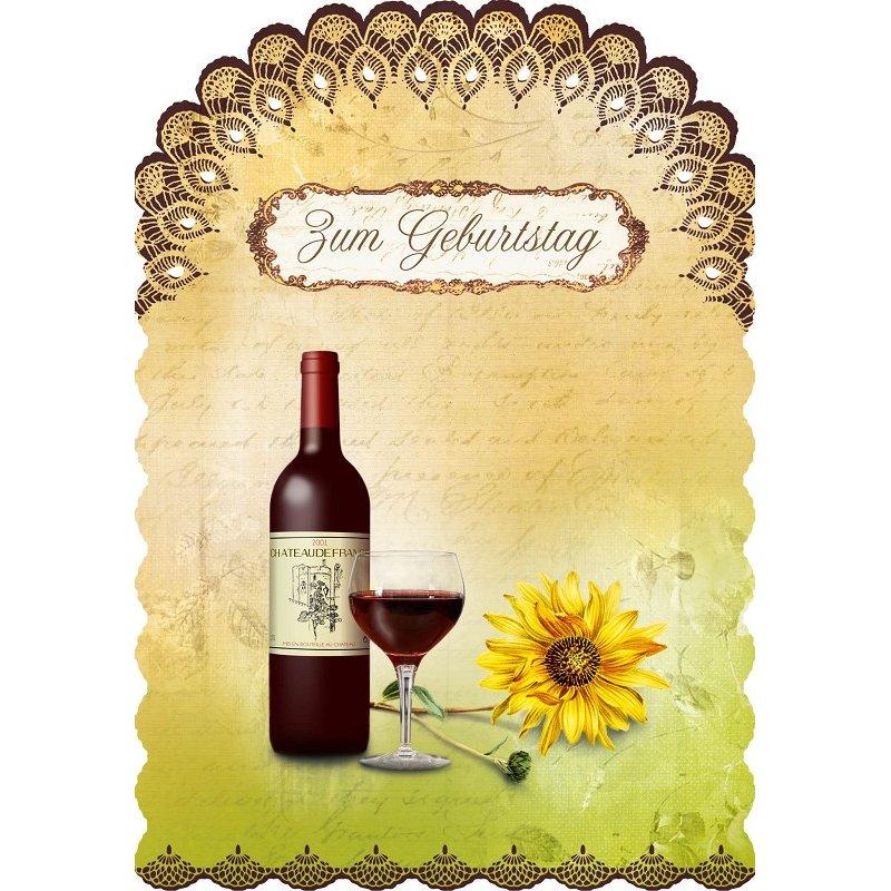 Gespaensterwald Grußkarte Romantique Zum Geburtstag - le vin